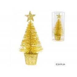 Árvore dourada 6.5x14cm