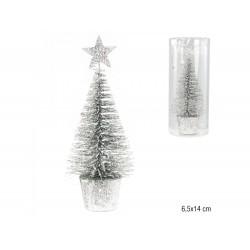 Árvore prateada 6.5x14cm