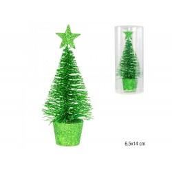Árvore verde 6.5x14cm