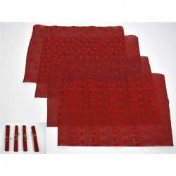 Individual vermelho 29x45cm - 4 modelos sortidos