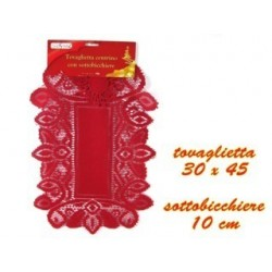 Naperon rectangular 30x45 vermelho