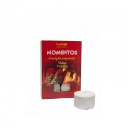 Pack 6 tealights perfumadas relax & coffee