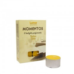 Pack 6 tealights perfumadas relax time