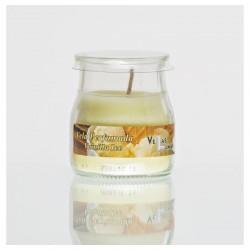 Vela aroma baunilha ice em copo tipo iogurte