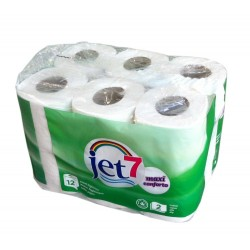 Papel higiénico JET7-Cj.12rolos