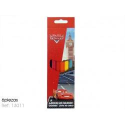 """Caixa c/ 6 lápis de cor """"Cars"""""""