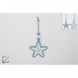 Estrela de madeira p/ pendurar 14,5cm