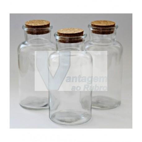 Frasco em vidro 500ml c/ tampa de cortiça