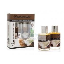 Cj. 2 frascos de óleo aromático Coco 10ml + 10ml