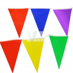 Fita 10mts c/ 20 bandeiras coloridas