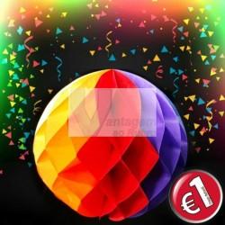 Lanterna de papel 23cm multicolor