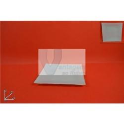 Prato em vidro quadrado branco 20cm