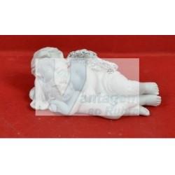 2 anjos de cerâmica deitados 6.5cm