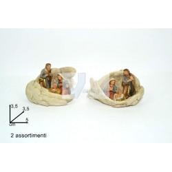 Presépio em cerâmica entre asas 5cm