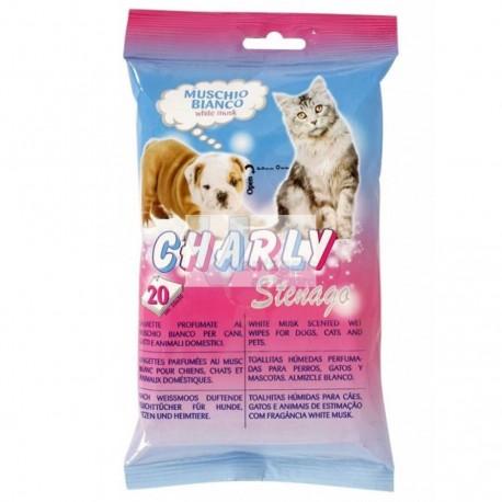 Toalhitas p/ animais Charly 20un