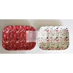 Bandeja plástica rectangular 34x26cm
