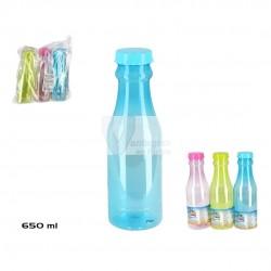 Garrafa plástica c/ tampa 650ml