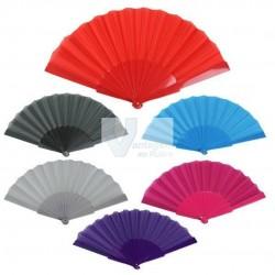 Leque plástico 23cm (várias cores)