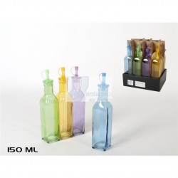 Galheteiro em vidro c/ tampa - cores sortidas