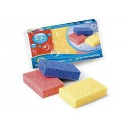 Cj. 3 esponjas rectangulares