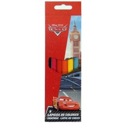 Disney Cars Cj. 6 lápis de cores