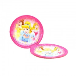 Disney Princesas Cj. 8 pratos papel 20cm
