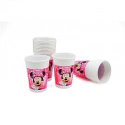 Disney Minnie Cj. 10 copos plástico 200ml
