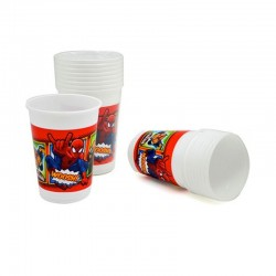 Disney Spiderman Cj. 10 copos plástico 200ml