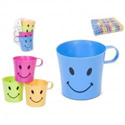 Cj. 4 canecas de plástico smile