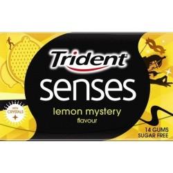 Trident pastilha elástica senses lemon mystery