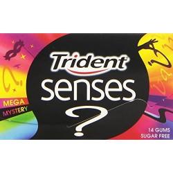 Trident pastilha elástica senses mega mystery