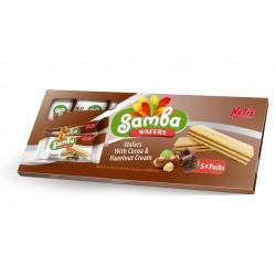 Nefis samba pack 5 pacotes wafers cacau e avelã 175g