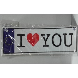 Placa I LOVE YOU