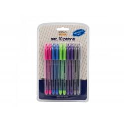 Pack 10 canetas cores sortidas
