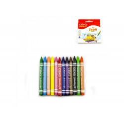 12 lápis de cera