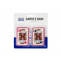 Pack 2 baralhos de cartas + 5 dados