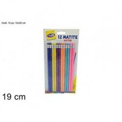Pack 12 lápis carvão