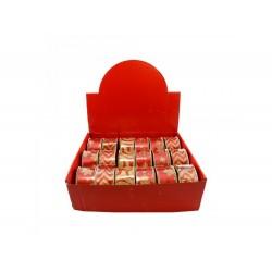 Fita p/ decoração vermelho/dourado 2.7mt x 3.8cm