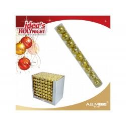 Pack 9 bolas 4cm douradas