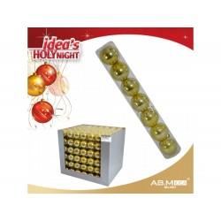 Pack 7 bolas 5cm douradas