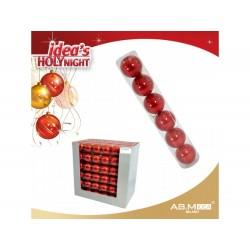 Pack 6 bolas 6cm vermelhas