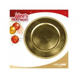 Marcador de mesa dourado 33cm diâmetro