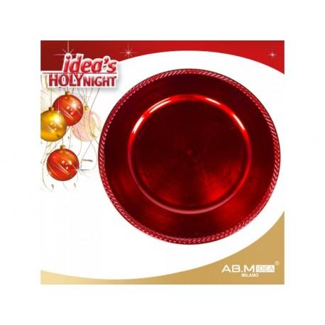 Marcador de mesa vermelho 33cm diâmetro