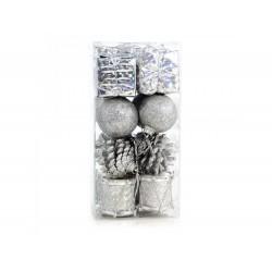 Pack 16 pendentes sortidos prateados