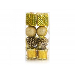 Pack 16 pendentes sortidos dourados