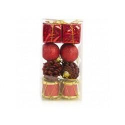 Pack 16 pendentes sortidos vermelhos