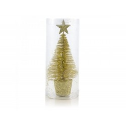 Árvore de natal dourada 14cm