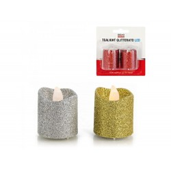 Pack de 2 tea light  c/ glitter