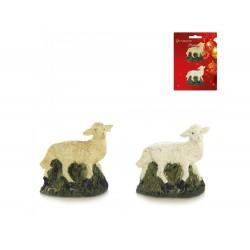 Pack 2 ovelhas p/ presépio